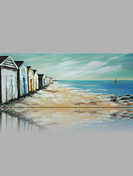 IARTS® Modern Abstract Beach Hut Oil Painting On Canvas with Stretched Frame Wall Art For Home Decoration Ready To Hang