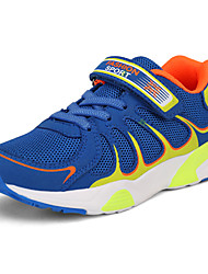 Boys' Athletic Shoes Comfort Fall Winter Net PU Running Shoes Athletic Casual Outdoor Magic Tape Flat Heel Fuchsia Dark Grey Royal Blue