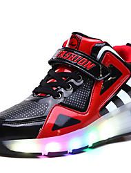 Kid's Boys' Skate Shoes LED light Breathable Adjustable Blue/White/Black/Red
