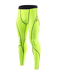 21 Grams® Homme Course / Running Collants Séchage rapide Design Anatomique Compression Bandes Réfléchissantes Doux Sensation de MaintienPrintemps