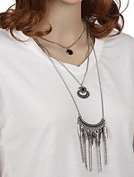 Femme Pendentif de collier Colliers Déclaration Alliage de métal Résine Métalique Pendant Vintage Bohême euroaméricains Fait à la main