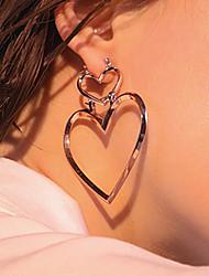 Жен. Серьги-слезки Мода Euramerican бижутерия Сплав В форме сердца Бижутерия Назначение Повседневные