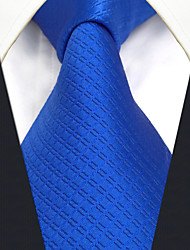 CXL32 Extra Long Fashion Classic Business Men Neckties Blue Solid 100% Silk Unique Handmade