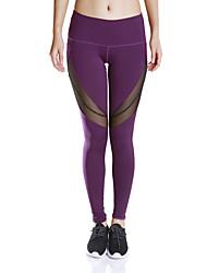 Mujer Pantalones de Running Gimnasio, Correr & Yoga Dispersor de humedad Secado rápido Compresión Medias/Mallas Largas para Yoga Jogging