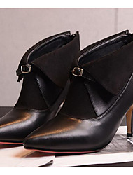 Women's Boots Comfort Microfibre Fall Winter Casual Comfort Khaki Black 2in-2 3/4in