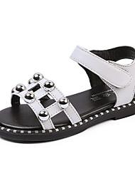 Girls' Flats Comfort PU Spring Fall Casual Walking Comfort Magic Tape Low Heel White Flat