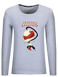Hombre Simple Otros Diario Casual Primavera Otoño Camiseta,Escote Redondo Un Color Estampado Patrón Manga Larga Algodón Fino