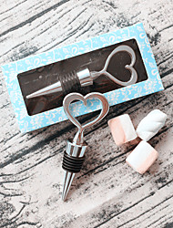 DIY Wedding Favor Heart of Silver Bottle Stopper Classic Theme Non-personalised Practical Beter Gifts®