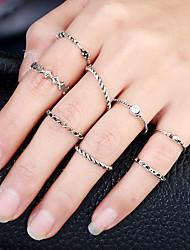 Women's Band Rings Ring Cuff Ring Circular Circle Rock British Metal Alloy Rhinestone Alloy Circle Jewelry ForParty Birthday Graduation