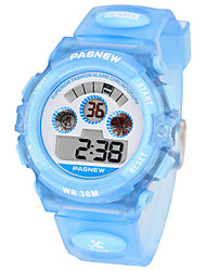 Kid's Sport Watch Fashion Watch Digital Water Resistant / Water Proof Rubber Band Blue Pink