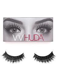 VVHUDA Mink False Eyelashes Handmade Natural Individual Strip Thick Extensions Eyes Fake Lashes Beauty Party Collection Claudia