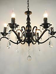 Ac110-240 salon chandelier simple cristal fer à repasser lumières salon lampe décoration éclairage