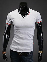 Hot Sale High Quality  Men's Plus Size Casual/Daily Simple Active Summer T-shirtSolid Round Neck Short Sleeve Cotton Thin