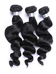 Best Quality 3 Pcs 300g Brazilian Virgin Human Hair Wefts 100% Unprocessed Natural Black Hair 130% Density Loose Wave Human Hair Weaves/Extensions