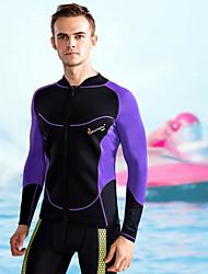 Homens Passeios de barco Resistente Raios Ultravioleta Fato de Mergulho Manga Longa Blusas-Natação Praia Surfe Esportes Aquáticos