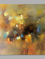 IARTS® Hand Painted Oil Painting Dark Color Abstract Yellow& Grey Wall Art Acrylic Canvas Wall Art For Home Decoration