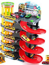 Caminho de ferro do carro Pista de Corrida para presente Blocos de Construir Plásticos 1-3 anos 3-6 anos de idade Brinquedos