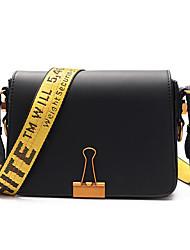 Women Shoulder Bag PU All Seasons Casual Outdoor Rectangle Clasp Lock Blushing Pink Red Black