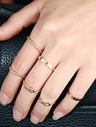 1Set Women's Ring Circular Metal Alloy Alloy Circle Jewelry For Birthday Date Casual/Daily