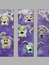 Peint à la main Animal Abstrait Trois Panneaux Toile Imprimé For Décoration d'intérieur