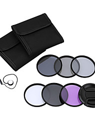 Andoer 62mm UV CPL FLD ND(ND2 ND4 ND8) Photography Filter Kit Set Ultraviolet Circular-Polarizing Fluorescent Neutral Density Filter