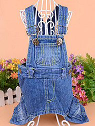 Dog Clothes/Jumpsuit Dog Clothes Cowboy Jeans