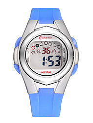 Kid's Sport Watch Fashion Watch Digital Water Resistant / Water Proof Rubber Band Black Blue