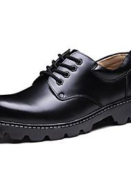 Для мужчин Туфли на шнуровке Формальная обувь Кожа Осень Зима Для вечеринки / ужина Work & Safety Формальная обувь Черный 2,5 - 4,5 см