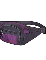 Men Waist Bag Nylon Spring/Fall Summer Sports Outdoor Rectangle Zipper Violet Blushing Pink Ruby Sky Blue Navy Blue
