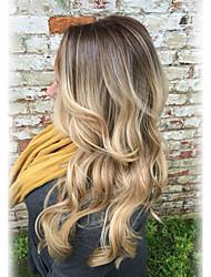 Nouveau style pré-dominant ombre naturel cheveux bouclés cheveux longs perruques