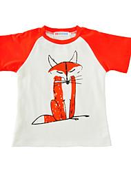Boys' Print Tee Cotton Summer Short Sleeve Regular Daily Casual Kids Boys T Shirt Girls Tops