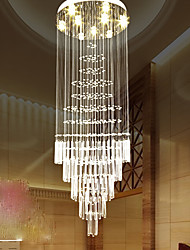 European style staircase pendant lamp simple crystal chandelier stair lamp hotel villa duplex