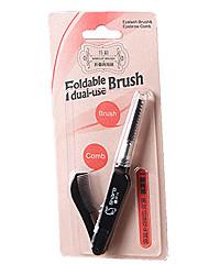 1pc Eyelash Comb (Flat) Eyelash Comb (Round) Synthetic Hair Foldable