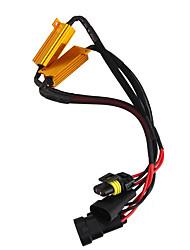 1 par hb3 (9005) hb4 (9006) 50w led resistor de carga descodificador de cancelamento de erro canbus