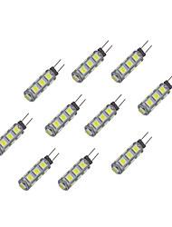 2W Luci LED Bi-pin 13 SMD 5050 135 lm Bianco caldo Bianco DC 12 V 10 pezzi