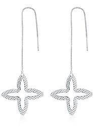 Women's Drop Earrings AAA Cubic ZirconiaBasic Unique Design Tattoo Style Dangling Style Rhinestone Geometric Circle Friendship Turkish
