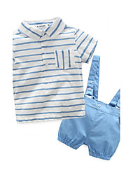 Baby Child Cotton Going out Casual/Daily Holiday Stripe Clothing Set,Stripes Spring Summer