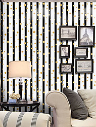 A Rayas Art Decó Puntos Fondo de pantalla Para el hogar Moderno / Contemporáneo Revestimiento de pared , PVC/Vinilo MaterialAuto