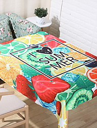 Simple Fruit Wind Rectangle Cotton And Linen Table Cloth 60*60cm Fruit Colorful