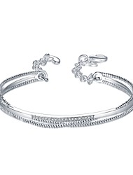 Femme Bracelets Rigides Manchettes Bracelets Bracelets de tennis ZirconNaturel Amitié Vintage Bohême Style Punk Hip-Hop Pierre Fait à la