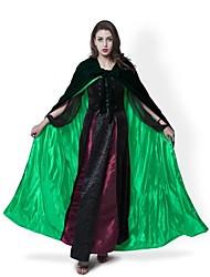 Casaco Fantasias de Cosplay Capa Vassoura de Bruxa Artigos de Halloween Festa a Fantasia Baile de MáscaraMago/Bruxa Fantasma Vampiros