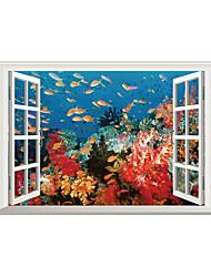 Zvířata Módní Krajina Samolepky na zeď Samolepky na stěnu 3D samolepky na zeď Ozdobné samolepky na zeď,Vinyl Materiál Home dekoraceLepicí