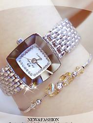 Mujer Reloj de Moda Reloj Pulsera Reloj creativo único Reloj Casual Chino Cuarzo Resistente al Agua Acero Inoxidable Banda Brazalete