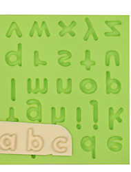 Lowercase Letter Silicone Fondant Mold Cake Decoration Tools for Chocolate Fimo Clay Mold