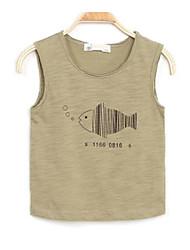 Para Meninos Camiseta Cor Única Estampado Verão Algodão Pant Long Regular