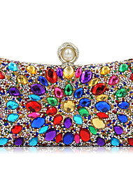 L.WEST Woman Fashion Luxury High-grade Diamonds Evening Bag