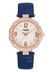 Mulheres Relógio de Moda Quartzo Couro Banda Azul Vermelho