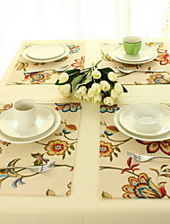 Modern Fashionable Pastoral Style Cotton And Linen Table Placemat 32*45cm Single-sided