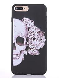 Étui pour Apple iphone 7 7 plus couverture de casse-tête motif squelette noir plus épais matériel tpu étui souple casque téléphone 6s 6