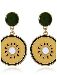 Women's Kiwifruit Drop Earrings Flower Style Plastics Alloy Flower Jewelry For Party Event/Party